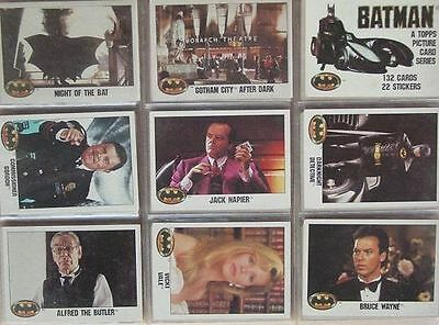 Batman 1989 80 Trading Cards  DC Comics Joker Topps Picture Series