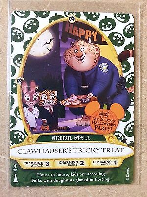 CLAWHAUSER 2016 Halloween Card NEW* Disney Sorcerers Of The Magic Kingdom