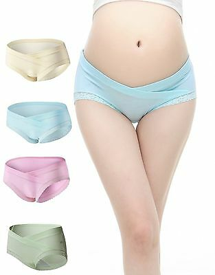 Uniwit 4 PCS Cotton Maternity Pregnant Mother Panties Lingerie Briefs Underpa...
