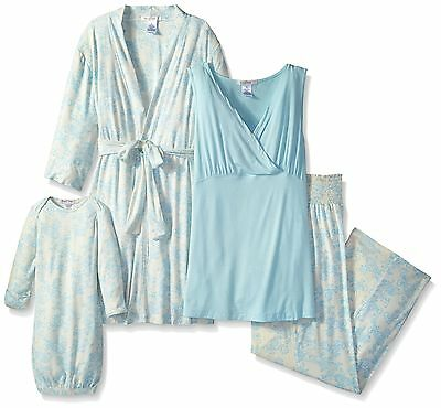 Everly Grey Women's Maternity Roxanne Nursing Pajama Set with Baby Gown Small