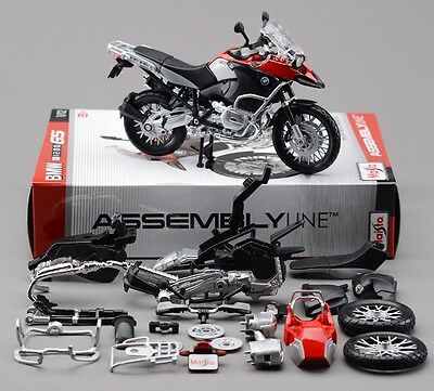 Maisto 1:12 BMW R1200GS Assemble DIY Motorcycle Bike Model Toy Red