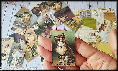 20 Vintage Cat,Cat Lover,paper ephemera,scrapbook ephemera art,Snailmails,card