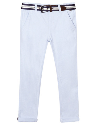 JASPER CONRAN Boy's Light Blue Belted Oxford Trousers size 13 years - Brand New