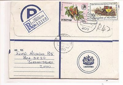 Lesotho 1994 RLE Formula Uprated 30s Butterfly 10s Mail Coach (baf)