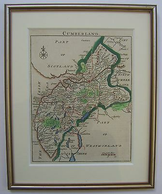 Cumberland: antique map by John Rocque, 1746/53