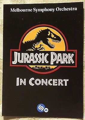 Promotional Postcard Jurassic Park In Concert By MSO Mar17