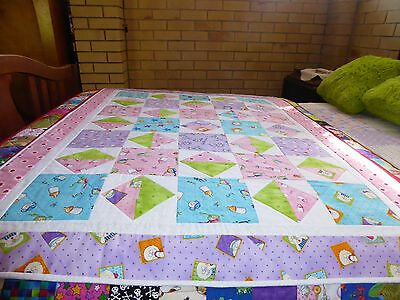 A Square Within A Square  Baby Handmade Patchwork Quilt