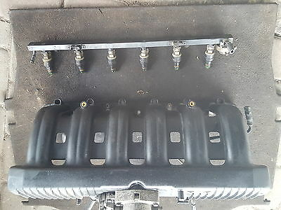 Bmw E34,e36 M50b20 Intake Manifold with fuel rail and injectors 1720 615-2.0