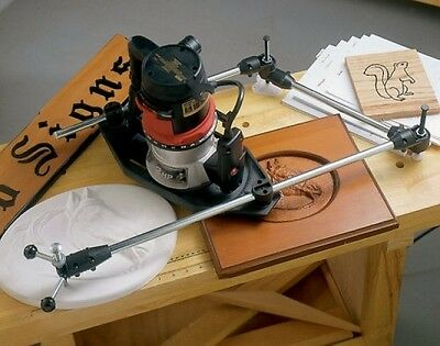 Router Pantograph Stencil Tracing Jig Wood Working Carving Tool Letter Template