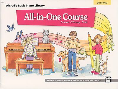 Alfred's Basic Piano Library All-In-One Course Book 1 Music Method