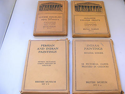4 Sets Of British Museum Natural History Post Cards C4, C6,c9,c12