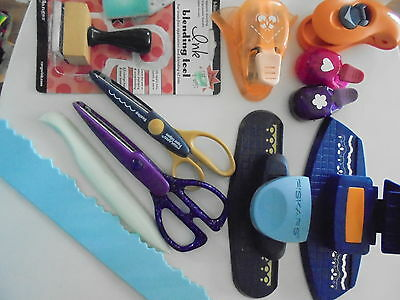 11 paper crafting tools- punches,scissors