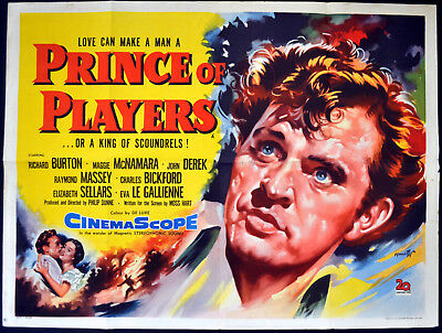 PRINCE OF PLAYERS 1955 Richard Burton John Derek HINCHLIFFE UK QUAD POSTER