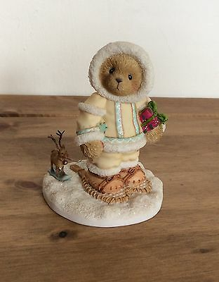 RARE CHERISHED Teddies Figurine Catalog Exclusive Ornament NED with Deer 1041791