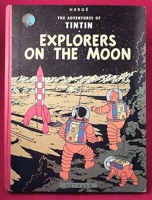 HERGE Tintin - Explorers on the Moon  Methuen 1959 1st UK Edition good condition