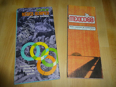 Lot of 2 1968 Mexico Olympic Maps