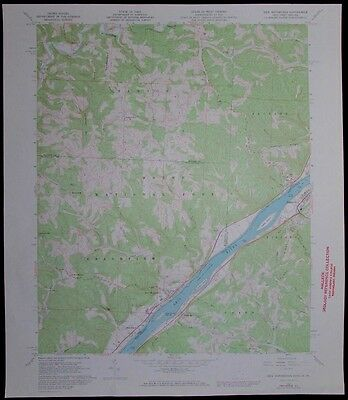 New Matamoras Ohio West Virginia Ohio River vintage 1973 old USGS Topo chart