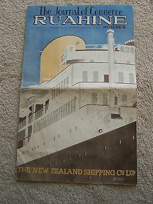 mv.RUAHINE 1951 New Zealand Line Journal of Commerce Special supplement 16 pages