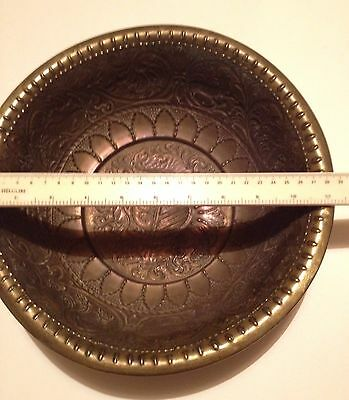 Vintage Brass Decorative Bowl Home design Christmas fruit  FREE UK P&P