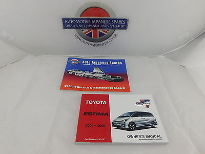 Toyota Estima 2000 - 2006 Owner's Manual / Handbook & Free Service Booklet