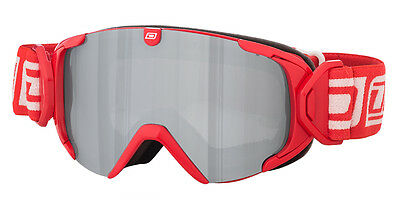 Dirty Dog Stampede Ski Goggles Red / Grey Silver Mirror 54160