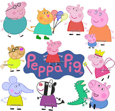 PEPPA PIG wall stickers (14 images in 3 size to choose from) PRE-CUT