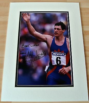 Allan Wells SIGNED autograph 16x12 photo mount display Olympic 100m & COA