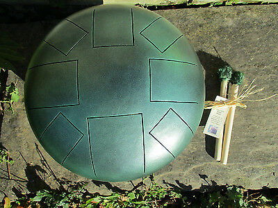 Steel Tongue Drum in Emerald Mist - F Celtic Minor Scale