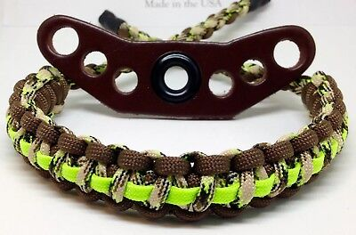 Compound Bow Wrist Sling Band Strap Paracord Hunting Archery Sling Camo