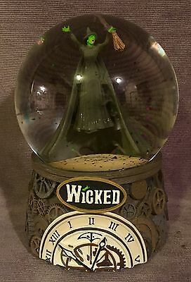 Wicked Defying Gravity Snowglobe RARE Music Box Snow Dome Globe 2003 Witch