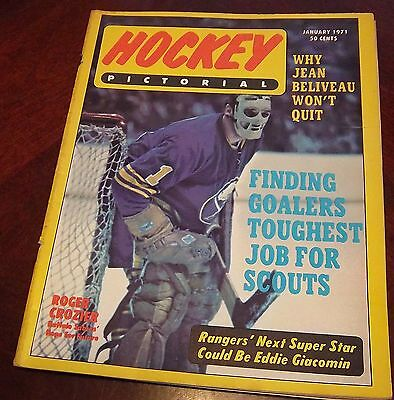 Hockey Pictorial January 1971 Roger Crozier