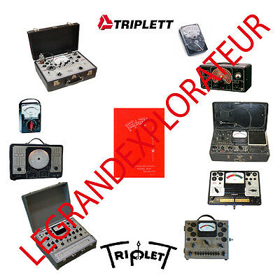 Ultimate Triplett Instruments Repair Service & Operation manuals  PDF manual DVD