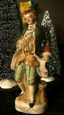 Colonial figurine in Costume,Hand Painted, Man VINTAGE, Made in Japan