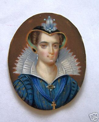 Mary Queen of Scots Miniature by George Perfect Harding c1820 on ivory