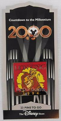 Disney Store Countdown to the Millennium Pin #24 The Lion King 1994 New