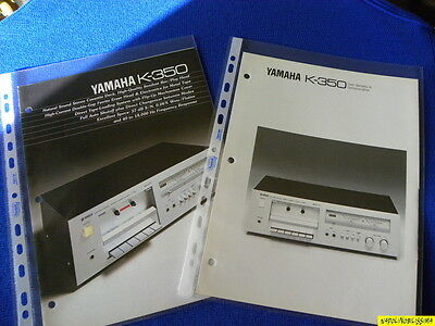 Yamaha K-350 Original brochure & Yamaha Reference Guide New