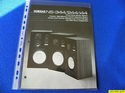 Yamaha NS-344/244/144 Original brochure  New