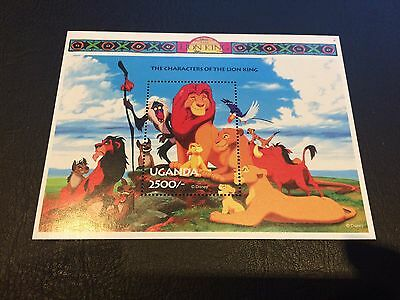 Disney Uganda The Lion King Souvenir Stamp Sheet Mint Nh