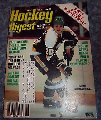 Hockey Digest April 1983 Dino Ciccarelli   shipping label