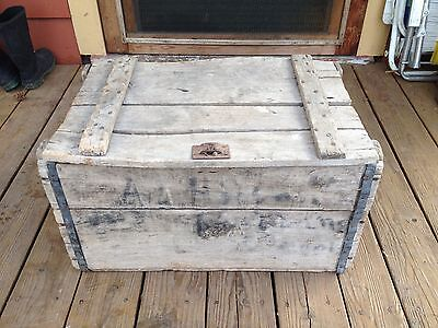 Antique Old Wooden Sheridan Brewing Wyoming Beer Wood Crate Box