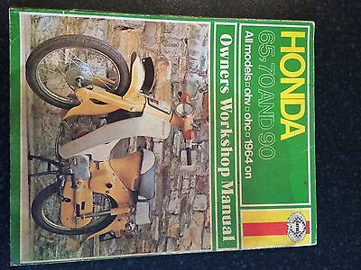 Haynes Owners Workshop Manual. Honda 65 70 & 90 C70 C90 stepthrough 1964 onwards
