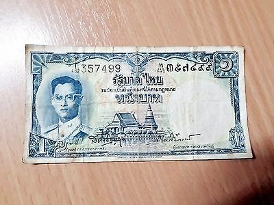 Thai Bank Note Old Antique King Rama Nine BE2501 Collectible Amulet