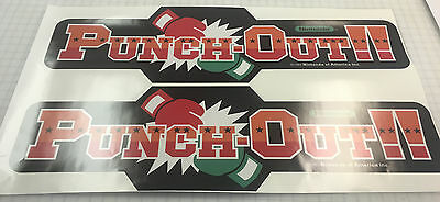 Punch-Out Arcade Game Side Art Decals