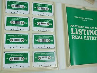 Tom Hopkins 1987 The Art Of Selling Real Estate 8 Audio Cassettes Tape Workbook