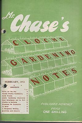 1952 FEBRUARY 36073  Mr Chase's CLOCHE GARDENING NOTES  HERBS FOR THE POT