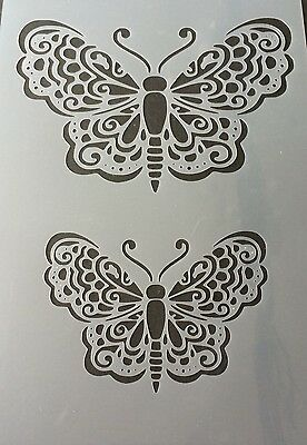 Large Butterfly Mylar Reusable Stencil Airbrush Painting Art DIY Home Decor