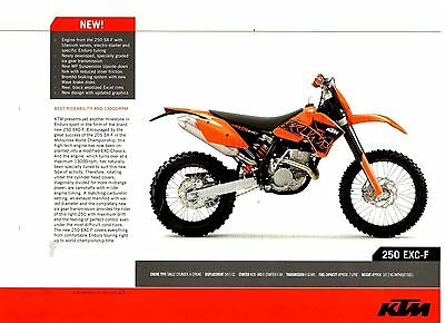 KTM 250 EXC-F Offroad Motorcycle Brochure / Leaflet 2006 7593E