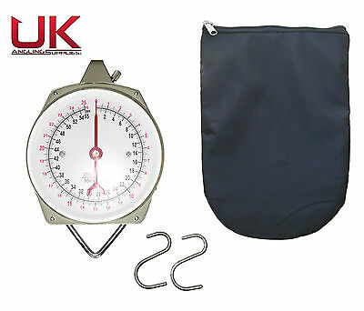 UK Angling Supplies Dial Scales 55lb with Zipped Padded Scales Pouch