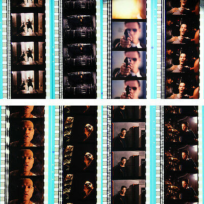 RARE - 8 x 35mm Film Cells - The Matrix (1999) Keanu Reeves - Agent Smith