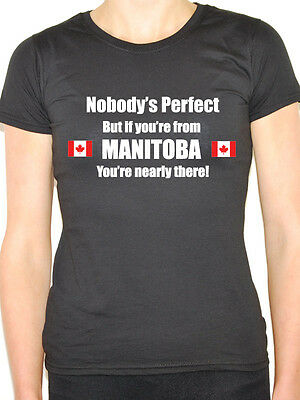 NOBODY/'S PERFECT NOVA SCOTIA Canadian Themed Womens T-Shirt Canada